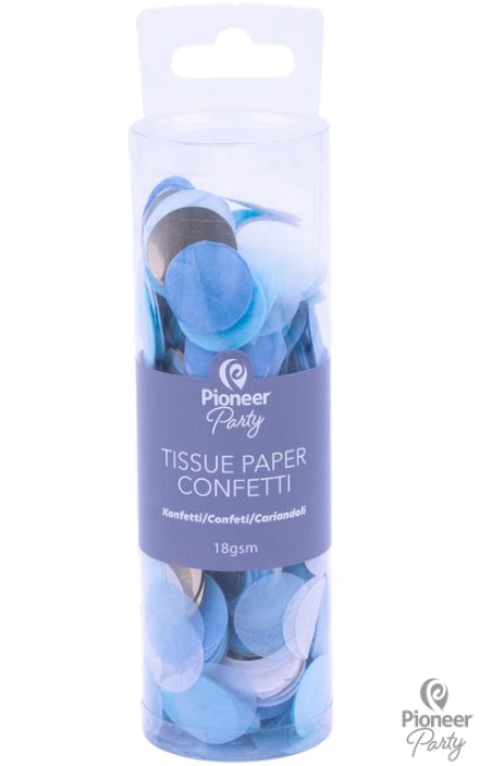 Pioneer Party Blue/Gold Tissue Confetti 18g